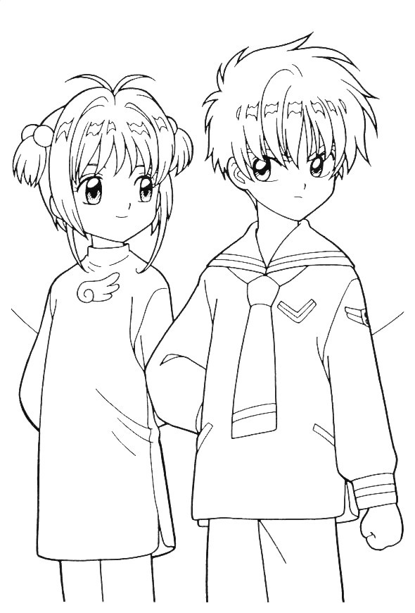 boyfriend coloring pages | sakura and her boyfriend coloring pages | Coloring Pages ...