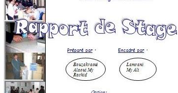 Rapport de stage one office nationale de l lectricit - Rapport de stage en cuisine ...