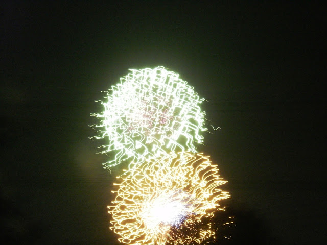 Photos of #fireworks seen from our backyard