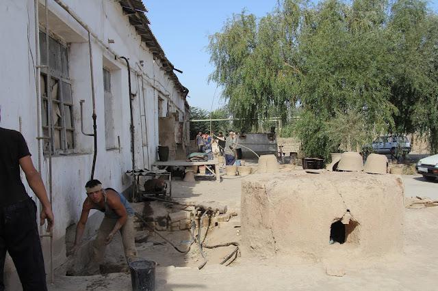 Ouzbékistan, Richtan, potiers, © L. Gigout, 2012