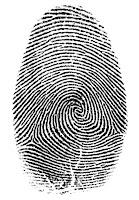 Mürekkep ile alınmış bir baş parmak izi