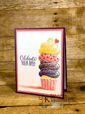 Saleabration, Stampin' Up!, Rick Adkins, Hello Cupcake Stamp Set, Fussy Cutting