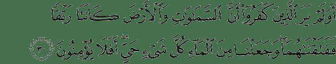 Surat Al Anbiya Ayat 30