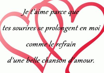 Message d'amour je t'aime mon homme