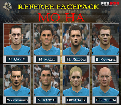 PES 2016 Referee Facepack