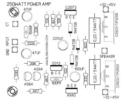 Cara membuat Power amplifier 250watt Mono PCB dan Layout