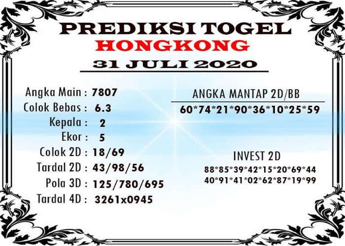 Kode syair Hongkong Jumat 31 Juli 2020 324