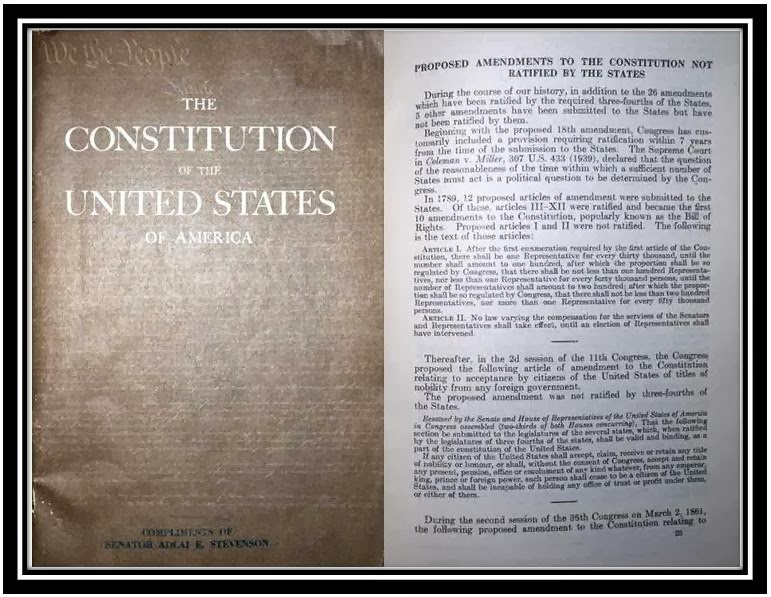 United States Constitution And Citizenship Day Pending And Failed