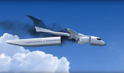 Cabine descartável em avião