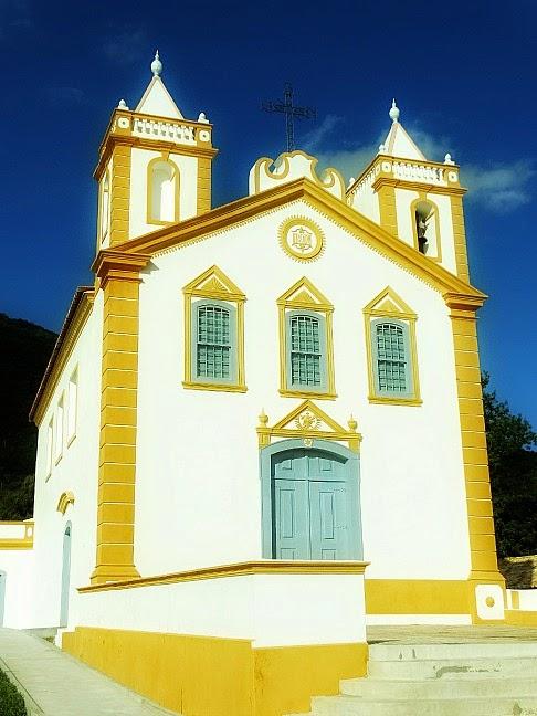 A igreja do Ribeirão da Ilha, em Florianópolis