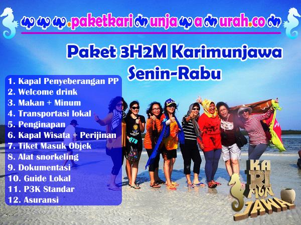 brosur paket wisata karimunjawa 3h2m express pp