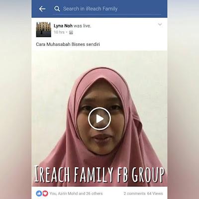 Sesi Facebook Live Bersama Master Lyna Noh, Pengasas iReach Family