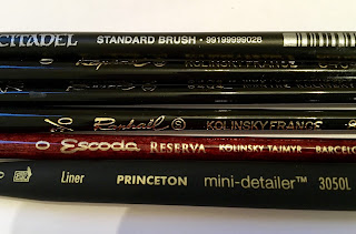 Miniature Brush Review Citadel Standard Brush Raphael 8404 Winsor Newton Series 7, Esocoda Reserva Princeton Liner Review SquadPainter Comparison
