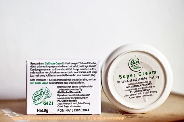 Cara Memakai Gizi Super Cream