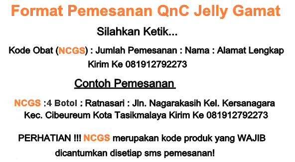 Format Pemesanan QnC Jelly Gamat