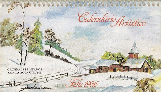 Calendarios Artísticos Vintage