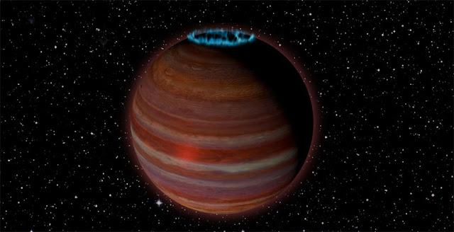 planeta errante que produz auroras - anã marrom
