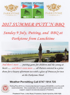 Putt 'n BBQ in Prestwick on Sunday 9th July
