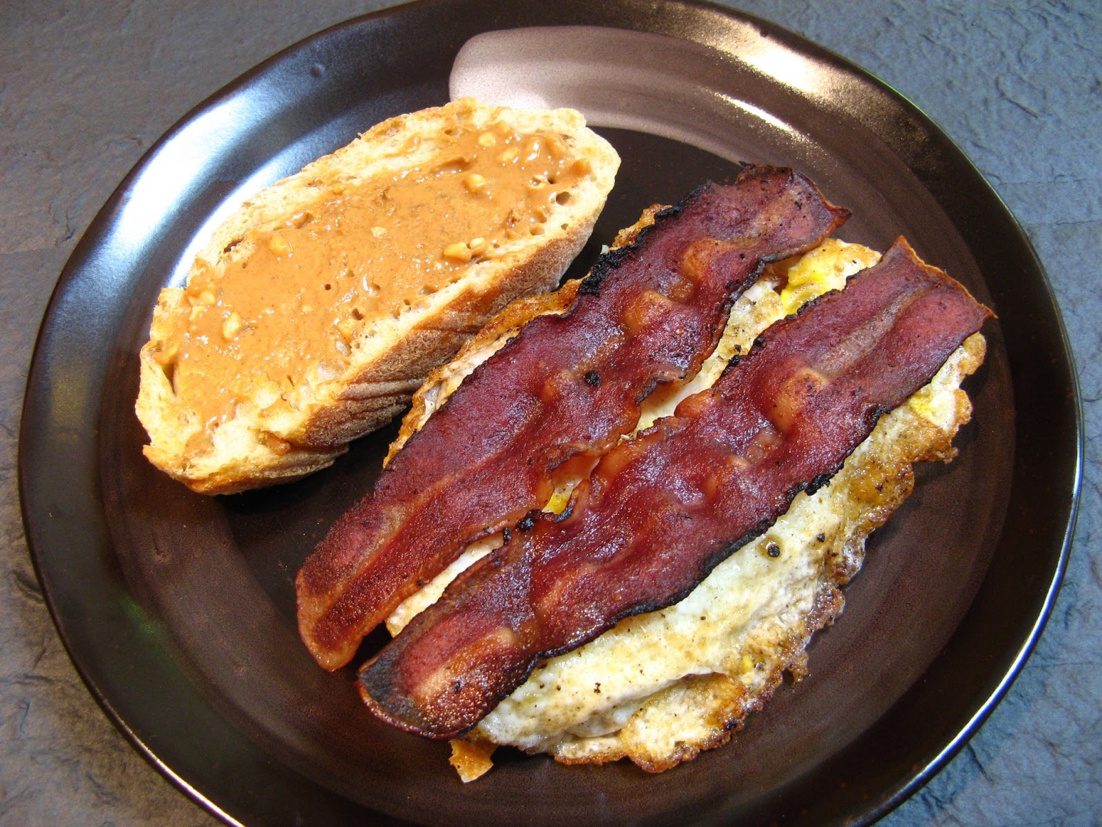 Duck Soup Easy Bacon Egg And Peanut Butter Sandwich