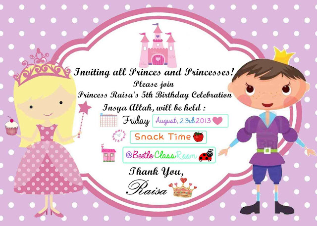 Birthday Party Invitation Letter