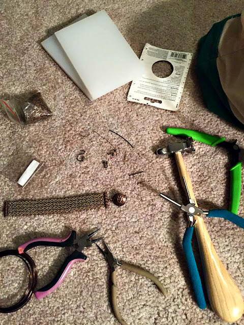 Jewelry making mess.