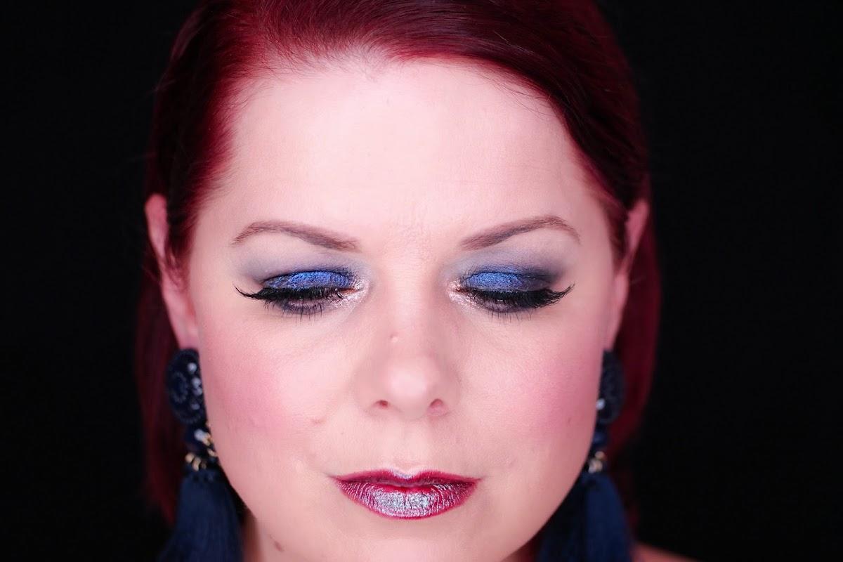 Augenmakeup Lidschatten Blau