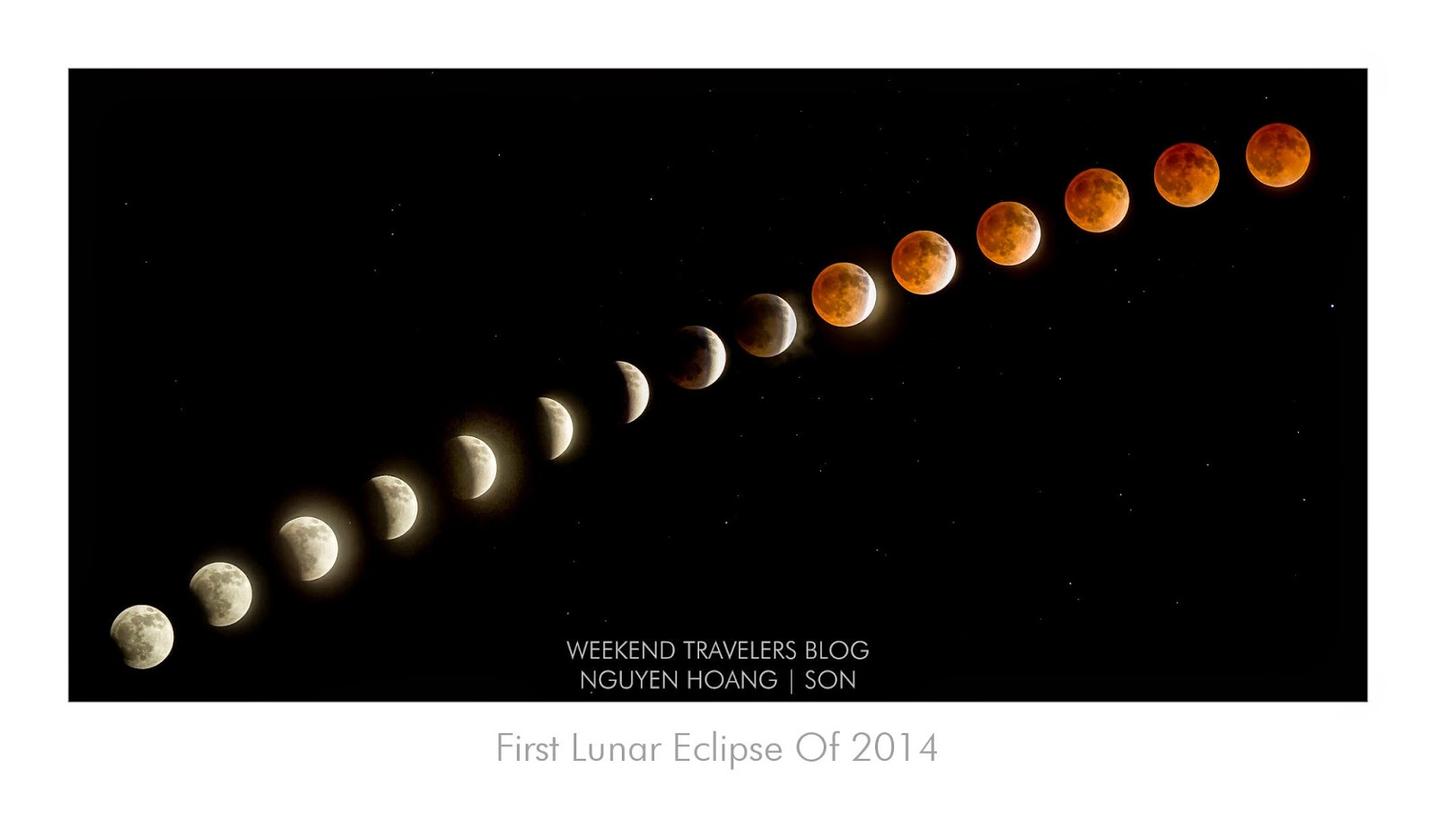 Total Lunar Eclipse in North American April 15th, 2014, First tetrad