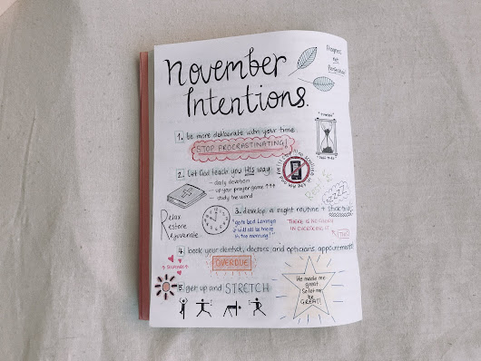 november intentions.