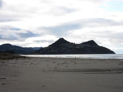 Playa de Pauanui, con Tairua y Mount Paku al fondo, Nueva Zelanda