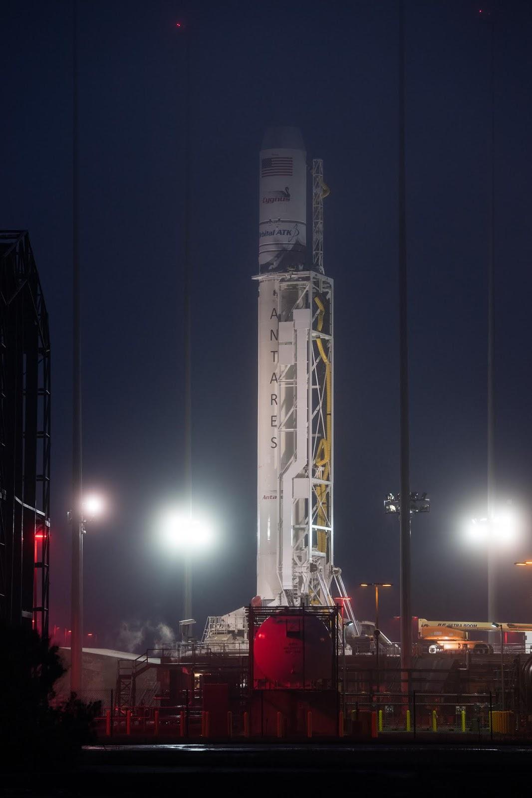 Image above The Orbital ATK Antares rocket