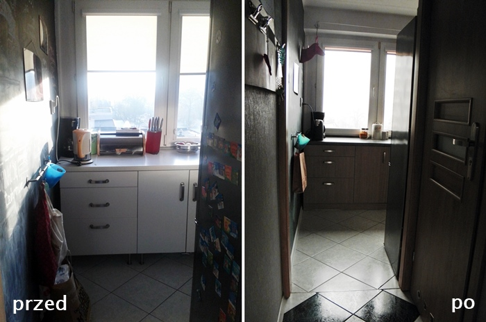 kuchnia przed i po industrial, loft, levelupstudio