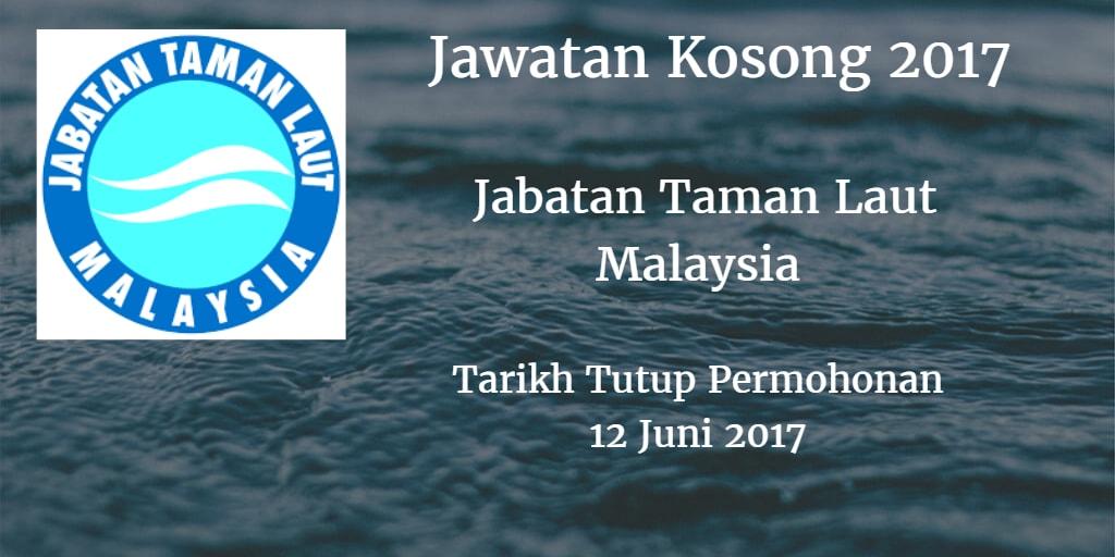 Jawatan Kosong Jabatan Taman Laut Malaysia 12 Juni 2017