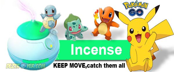 Trik menggunakan item incense pada pokemon GO