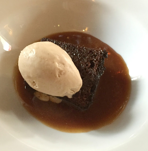sticky toffee pudding with banana ice cream at blackfriars newcastle