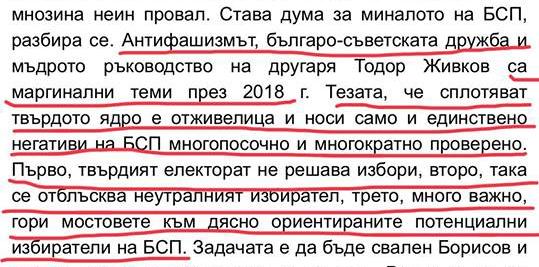 """Статия """"Смешен плач, наместо програма в БСП"""""""