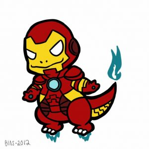 charmander iron man