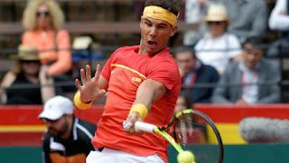 Rafa Nadal wins Davis Cup match