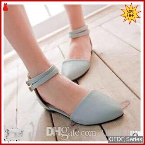 OFDF179 Sepatu Flat Cantik BabyBiru Veren Modis BMGShop