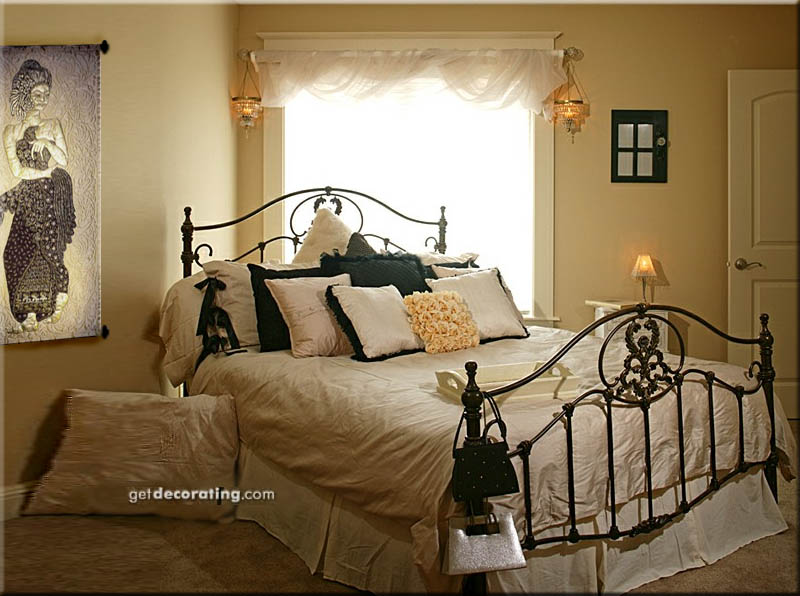 50 Kids Wrought Iron Bed Wrought Iron Queen Headboard: Art And Interior: Wrought Iron Bed And A Golden Nymph