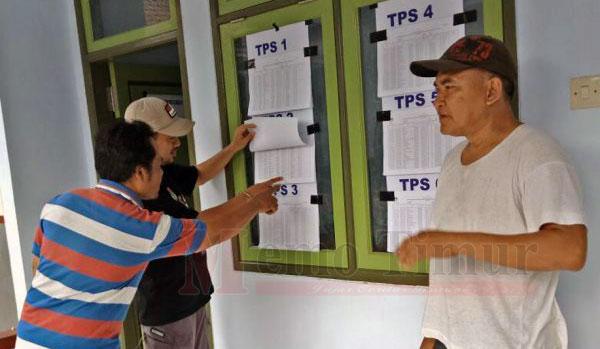 Pengumuman DPS di salah satu kantor desa