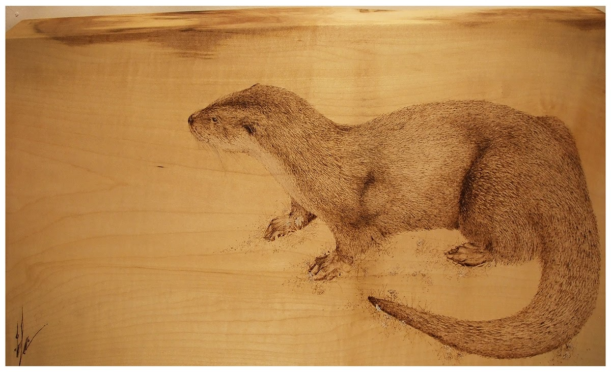 06-The-Otter-Eben-Cavanagh-Rautenbach-LeRoc-Animal-Drawings-using-Pyrography-www-designstack-co