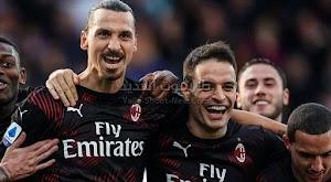 إبراهيموفيتش يقود ميلان لتحقيق الفوز على فريق كالياري بثنائية في  الدوري الايطالي