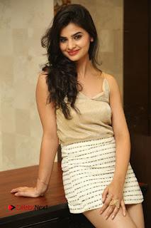 Actress Kamana Ranawat  Pictures in Short Dress at Selfie Raja Movie Success Meet  0048.JPG