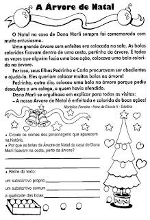 Leitura a árvore de natal