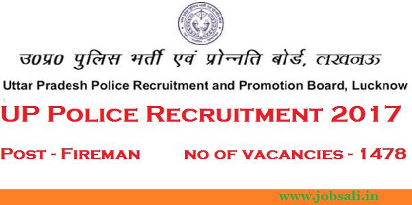 UP Police vacancy, UPPRPB Fireman notification, UP Govt jobs