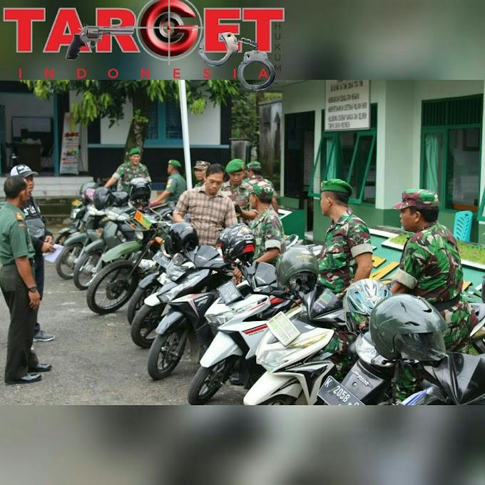 Kodim 0718 Pati Lakukan Cek Kelengkapan Surat Kendaraan di Jajarannya