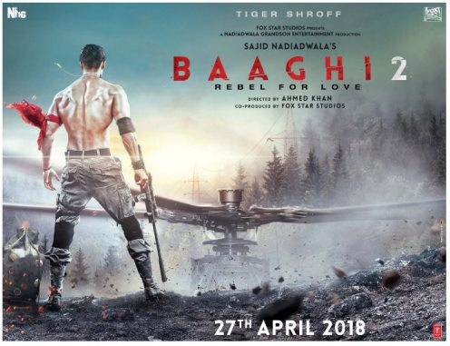 Baaghi 2 new upcoming movie first look, Poster of Tiger Shroff download first look Poster, release date