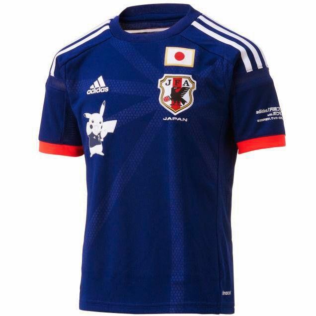 Camisa da seleção do Japão para a Copa 2014 terá o Pikachu estampado - Nintendo Blast