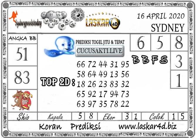 Prediksi Togel SYDNEY LASKAR4D 16 APRIL 2020