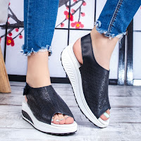 Sandale Piele dama negre